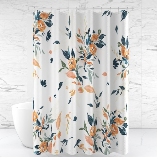 NICETOWN Custom Shower Curtains for Bathroom Polyester Fabric  Flower Cluster Waterproof with Hooks & Liners for Showers / Tubs