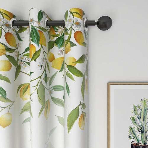 Custom Room Darkening Lemon Gradient Pattern Curtains by NICETOWN ( 1 Panel )