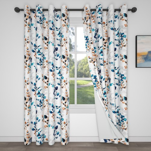 Custom Room Darkening Branches Pattern Curtains by NICETOWN ( 1 Panel )