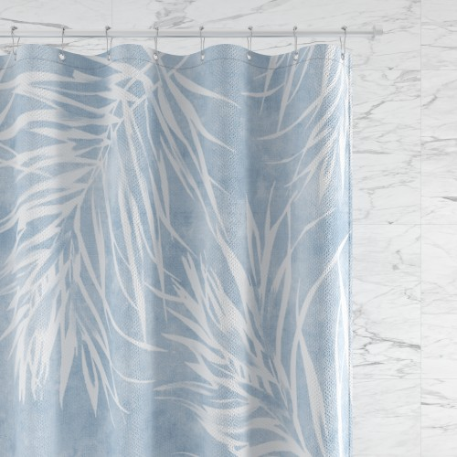 NICETOWN Custom Shower Curtains for Bathroom Polyester Fabric  Blue Branches Waterproof with Hooks & Liners for Showers / Tubs