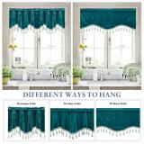 Custom Half Velvet Window Tier Curtain with Tassel Tailored Scalloped Valance / Swag by NICETOWN ( 1 Panel )