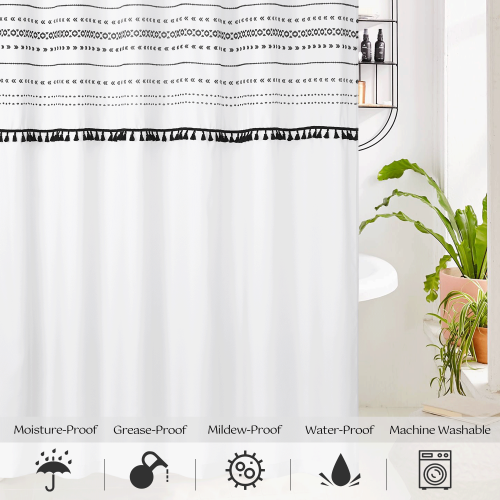 NICETOWN Custom Bohemia Shower Curtain for Bathroom  Waterproof with Hooks