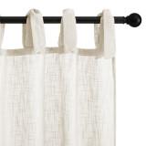 Custom Linen Curtain Trim Textured Semi Sheer Curtain Drape for Living Room Patio Bedroom by NICETOWN ( 1 Panel )