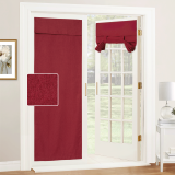 Custom Linen Cotton Blackout Door Curtain Tricia Insulated Light Block French Door Curtain Tie up Shade Blind by NICETOWN ( 1 Panel )