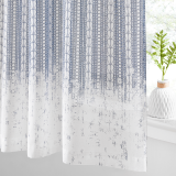 Custom Natural Semi Sheer Faux Linen Textured Lace Pattern by NICETOWN ( 1 Panel )