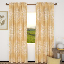 Custom Yellow Flowers Blackout Curtain Thermal Insulated Drapes by NICETOWN ( 1 Panel )