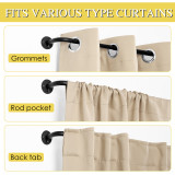 NICETOWN Curtain Rods Adjustable Window Curtain Rods Ideal for Blackout/Room Darkening Curtains, Valances, Tie up Shades, Wrap Around Curtain Rods for Kitchen,Set of 2
