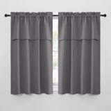 Custom Farmhouse Style Small Window Treatment Room Darkening Privacy Draperies for Basement Bathroom Bedroom by NICETOWN ( 1 Panel )