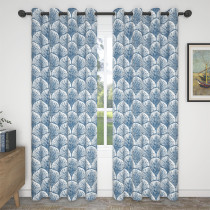 Custom Blue Shell Blackout Curtain Thermal Insulated Drapes by NICETOWN ( 1 Panel )