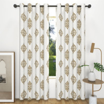 Custom Embroidery Flowers Blackout Curtain Thermal Insulated Drapes by NICETOWN ( 1 Panel )