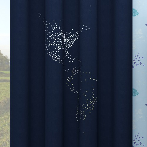 Custom Curtain Thermal Insulated Hollow Stars Privacy Drapes for Living Room World Map by NICETOWN ( 1 Panel )