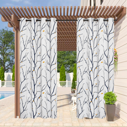 Custom Patio Outdoor Curtains Waterproof Blackout Curtains for Patio by NICETOWN ( 1 Panel )
