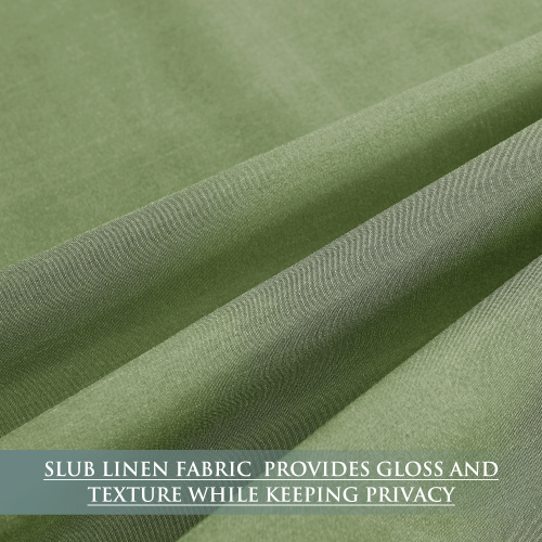 Custom Privacy Linen Curtains Light Filtering Soft Drapes for Bedroom/Living Room by NICETOWN ( 1 Panel )