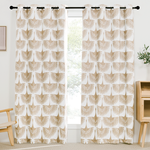 Custom Blackout Curtain Bird Thermal Insulated Drapes by NICETOWN ( 1 Panel )