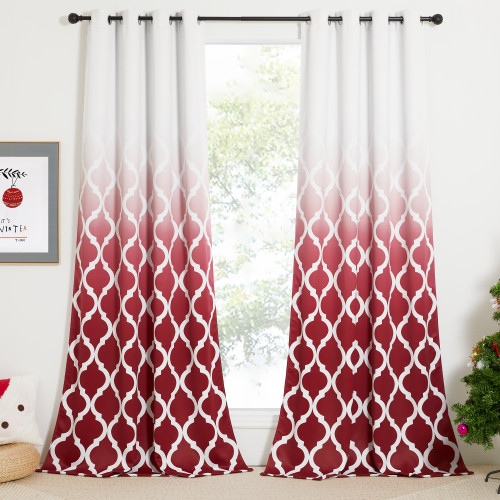 Custom Blackout Curtain Gradient Morocco Thermal Insulated Drapes by NICETOWN ( 1 Panel )