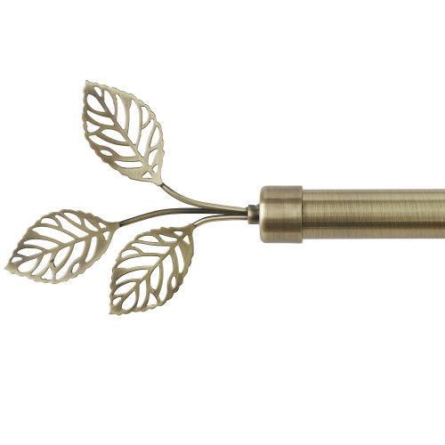 NICETOWN Adjustable Curtain Rod,Modern Leaves Final Design Decorative Drapery Rod, 28-144  Length