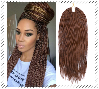 Short Senegalese Twist Crochet Hair Black