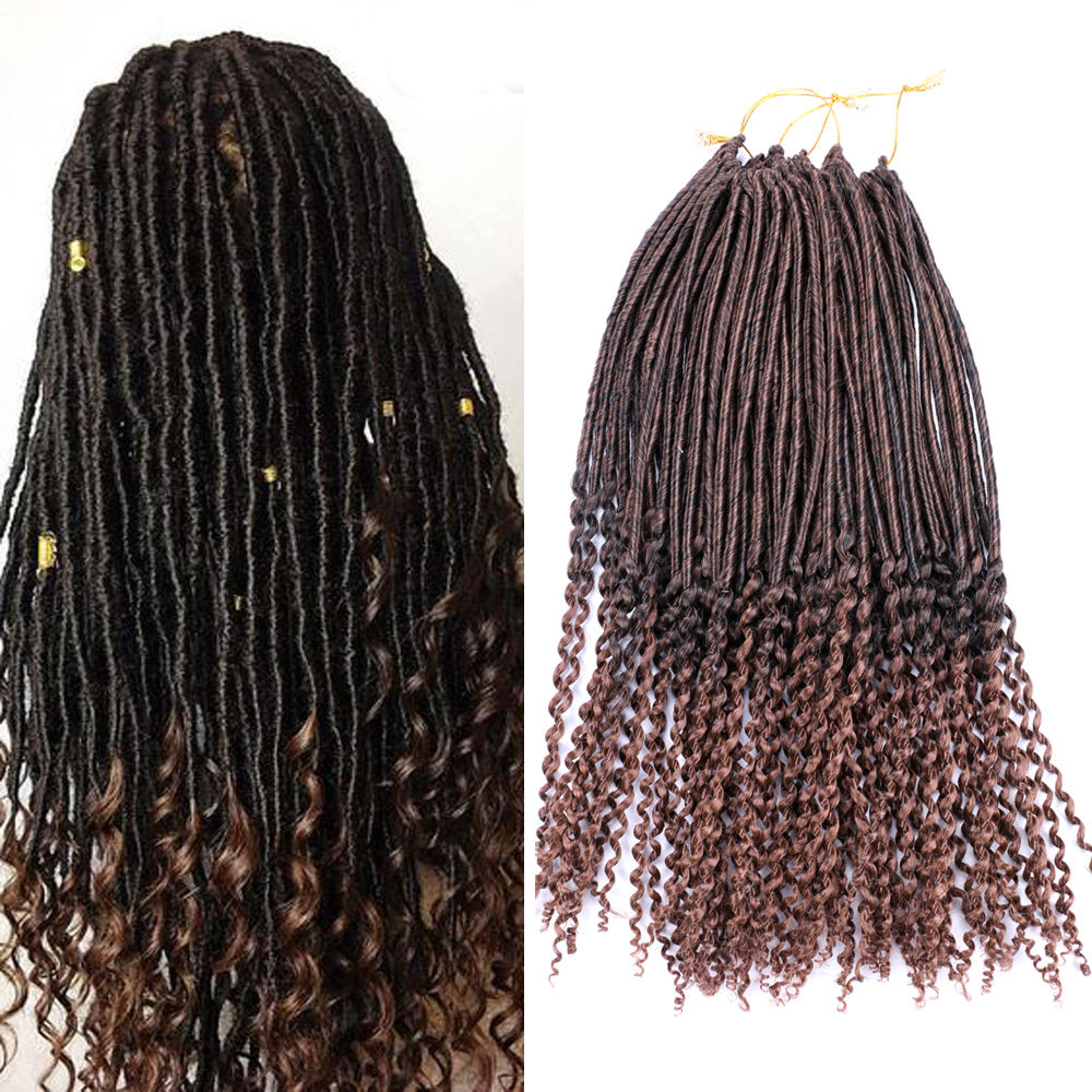 Us 799 Dairess 20inches Faux Locs Curly Ends Dreadlock Crochet