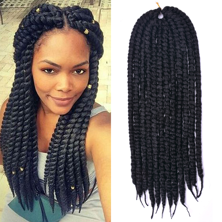 dairess 24 inches 12roots long havana mambo twist hair crochet braids ombre  crochet twist hair synthetic hair extensions