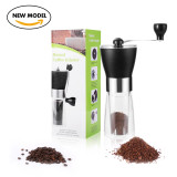 Manual Coffee Grinder, Coffee Bean Grinder, Adjustable Hand Grinder, Ceramic Conical Burr Mill, Mini Portable Home Kitchen Travel Coffee Bean Grinder/Coffee Mill for Precision Brewing-Moer Sky