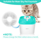 Pet Fountain Cat Water Dispenser-Healthy and Hygienic Drinking Fountain 2L Super Quiet Automatic Water Bowl with Filter and Silicone Mat for Dogs, Cats, Birds and Small Animals (Replacement Filters)