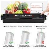 Vacuum Sealer Machine, Moer Sky Automatic Mini Portable Home Vacuum Air Sealing System for Food Preservation/Starter Kit | Led Indicator Lights | Dual Capacitance Design + 25pcs Sealer Bags