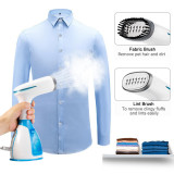 Moer Sky Handheld Garment Steamer Mini Portable Travel Garment Steamer Clothes Fast Heat Fabric Wrinkle Iron Steamer Large 280ml Water Tank Capacity Anti-Leakage Design