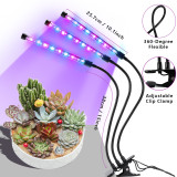Grow Light, Growing Lamps for Indoor Plants, Moer Sky 2019 Upgraded Version 27W 54 LED Bulbs Timming Plant Lights with Full Spectrum, 3/6/12H Intelligent timer, Adjustable Gooseneck, 5 Dimmable Levels