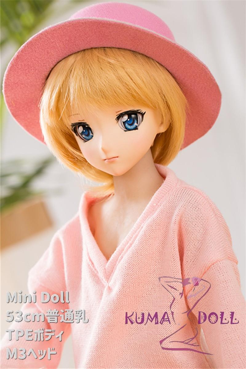 Mini Doll ミニドール セックス可能 53cm普通乳TPE M3ヘッド 収納が便利(隠しやすい)使いやすい 普段は鑑賞用 53cm-75cm身長選択可能