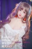 Real Girlシームレス高級版 TPE製ラブドール 145cm Gカップ 菜々子ちゃん EVO骨格付き 宣材写真のヘッドは職人メイク
