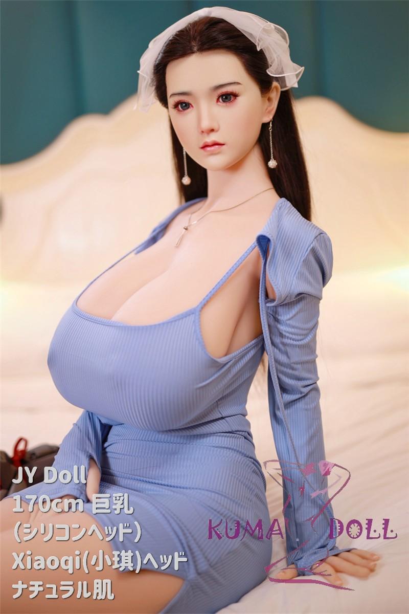 シリコン製頭部+TPEボディ JY Doll 170cm 巨乳 Xiaoqi(小琪) Sメイク付き
