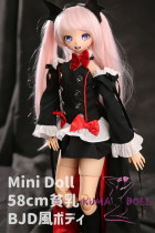 Mini Doll ミニドール セックス可能 58cm貧乳 BJDボディ Luluヘッド ボディ選択可