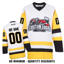 Custom Your Hockey Jerseys (Any Logo Any Number Any Name) Pittsburgh Penguins White ECP02