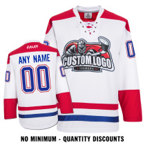 Custom Your Hockey Jerseys (Any Logo Any Number Any Name) Montreal Canadiens White ECM02