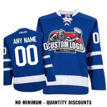 Custom Your Hockey Jerseys (Any Logo Any Number Any Name) Toronto Maple Leafs Blue ECT01