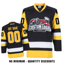 Custom Your Hockey Jerseys (Any Logo Any Number Any Name) Pittsburgh Penguins Black ECP01