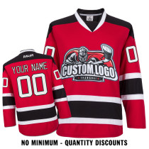 Custom Your Hockey Jerseys (Any Logo Any Number Any Name) New Jersey Devils Red ECN01