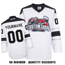 Custom Your Hockey Jerseys (Any Logo Any Number Any Name) Los Angeles Kings White ECL02
