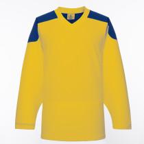 H100-257 Yellow Blank hockey Practice Jerseys