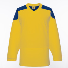 H100-257 Yellow Blank hockey Practice Jerseys