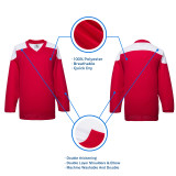 H100-208 Red Blank hockey Practice Jerseys