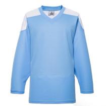 H100-289 Sky Blue Blank hockey Practice Jerseys