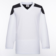 H100-222 White Blank hockey Practice Jerseys