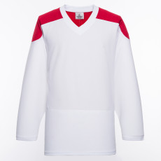 H100-209 White Blank hockey Practice Jerseys