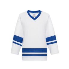 H400-207 White/Royal Blank hockey League Jerseys