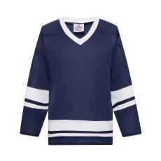 H400-216 Navy/White Blank hockey League Jerseys