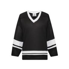 H400-221 Black/White Blank hockey League Jerseys