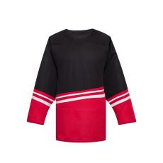 H500-004 Black/Red Blank hockey Designer Jerseys