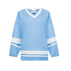 H400-227 Sky/White Blank hockey League Jerseys