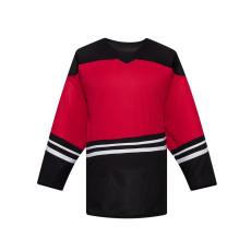 H500-104 Red/Black Blank hockey Designer Jerseys